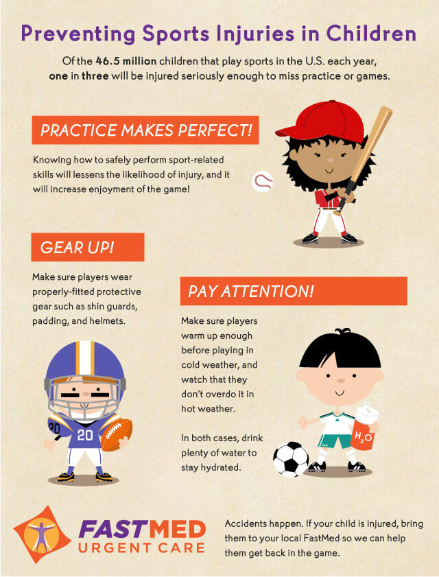 Sports safety infographic