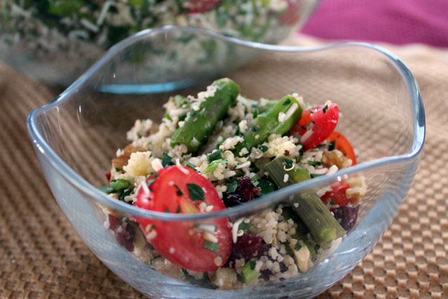 Herbed Couscous And Asparagus Salad Recipe — Dishmaps