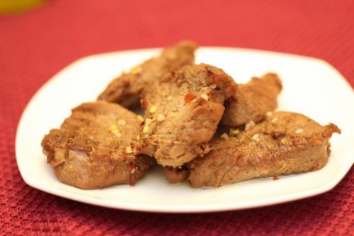 pork tenderlion sauce