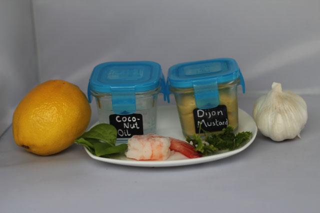 Ingredients to make party prawns