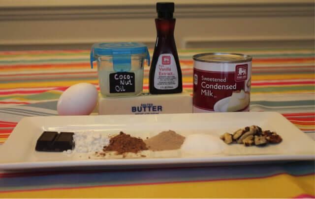Chocolate Protein Brownie ingredients