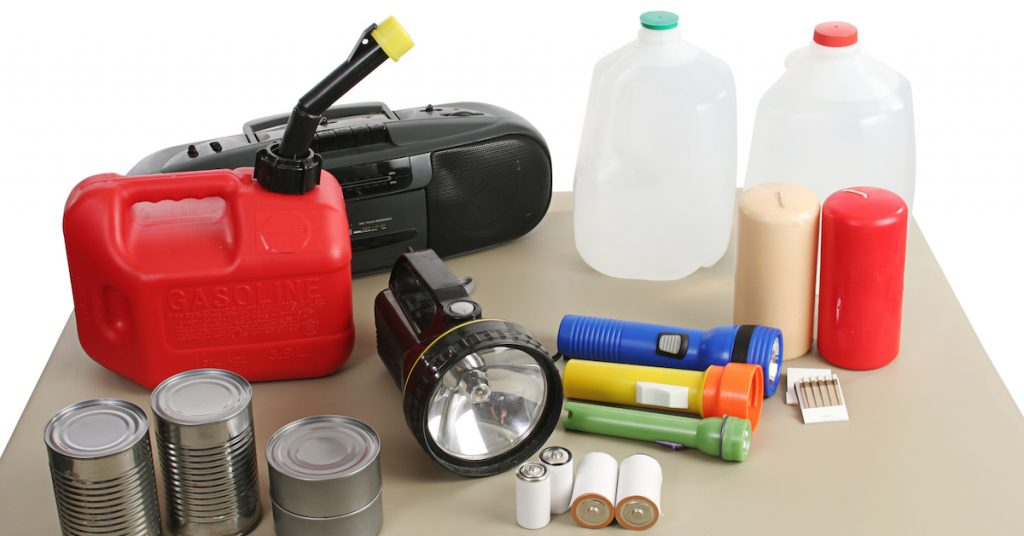 Picture of hurricane kit supplies