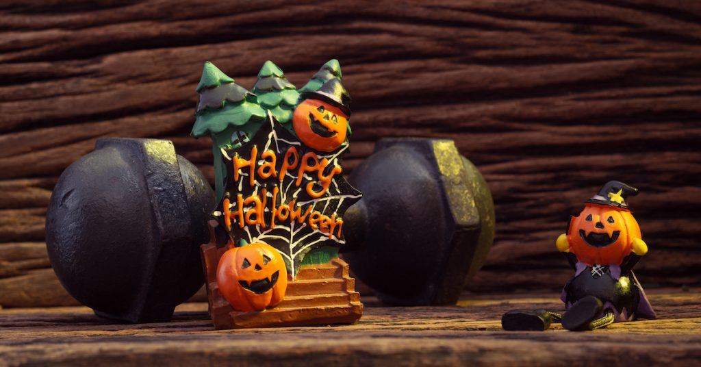 Picture of a Halloween decoration.