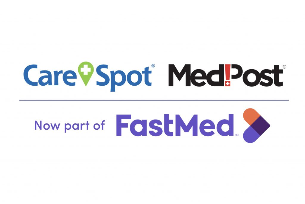 Image of CareSpot, MedPost, and FastMed logos