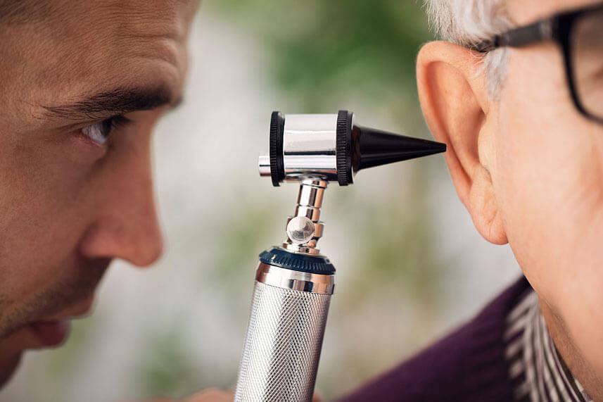 Doctor checking Ear